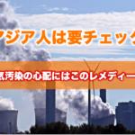 大気汚染の心配にはこのレメディーを!アジア人は要チェック